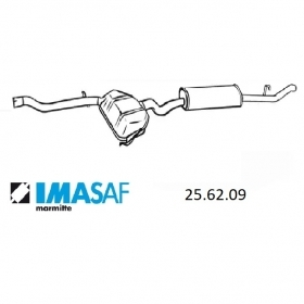 REAR SILENCER IMASAF FOR FIAT TEMPRA FOR 7659074
