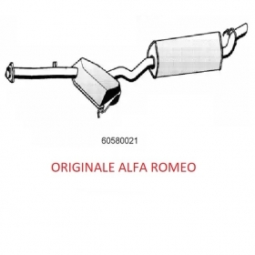 SILENCER CENTRE / REAR ALFA ROMEO 155 2.5 TD ORIGINAL 60580021
