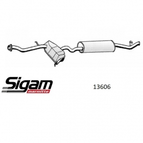 REAR SILENCER FOLLOW the FIAT TEMPRA S. W. FOR 7737480