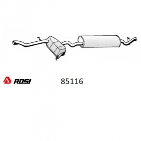 REAR SILENCER ROSI 85116 FIAT TEMPRA FOR 7657903 - 7675678