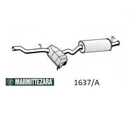 REAR SILENCER ZARA 1637A FIAT TIPO 1.9 TD FOR 7610385 - 7717015