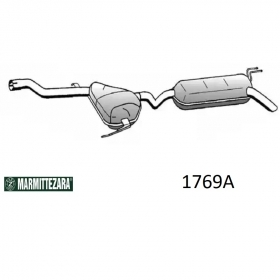 REAR SILENCER ZARA 1769A FIAT BRAVA - BRAVA FOR 46465384 - 46432518