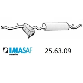 REAR SILENCER IMASAF 256309 THE FIAT TEMPRA TD FOR 7709265 - 7662701
