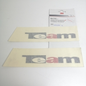 "COUPLE STICKERS SIDE ""TEAM,"" RED - BLACK FIAT PUNTO"