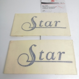 "COUPLE STICKERS SIDE ""STAR"" BLUE FIAT PUNTO"