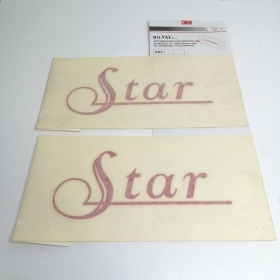 "COUPLE STICKERS SIDE ""STAR"", RED FIAT PUNTO"