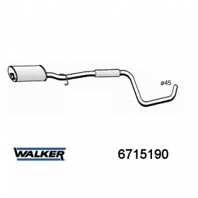 SILENCER CENTRAL WALKER VOLVO 440 K - 460 L FOR 3446574