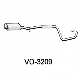 SILENCER CENTRAL SORAM VOLVO 440 K - 460 L FOR 3414659