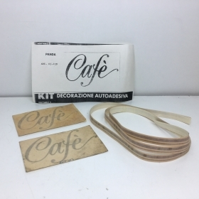 "KIT ADESIVO LATERALE POSTERIORE ""CAFE'"" FIAT PANDA"