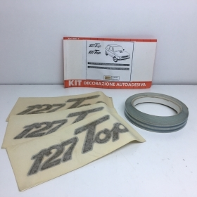 "KIT ADHESIVE REAR SIDE ""127 TOP"" SILVER FIAT 127"