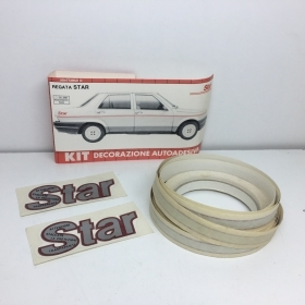 "KIT ADHESIVE REAR SIDE ""STAR"", RED - SILVER FIAT REGATA STAR"