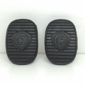 PAIR OF PEDAL COVER BRAKE - CLUTCH LANCIA MUSA WITH LANCIA LOGO FOR 71732392
