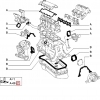 SEAL KIT SERIES, ENGINE FIAT CROMA TD ORIGINAL 5888534