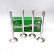 KIT 4 PCS. EXHAUST VALVES FOR FIAT ONE - POINT TRUE FOR 7574881