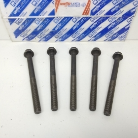 KIT 5 HEAD BOLT FIAT UNO - DUNA - PALIO -LANCIA Y10 ORIGINAL 7581743