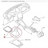 HEADSET THE GEAR LEVER ALFA ROMEO 156 ORIGINAL 156035774