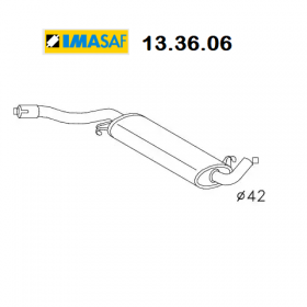 CENTRAL SILENCER AUDI 80 - VW PASSAT IMASAF FOR 055253409L