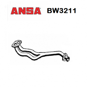 FRONT EXHAUST GAS PIPE BMW 5 ANSA FOR 18111176721