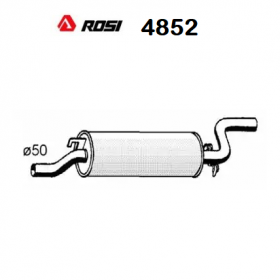 BMW 5 ROSI REAR SILENCER FOR 18121245014