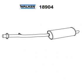 BMW 3 WALKER REAR SILENCER FOR 18101737652