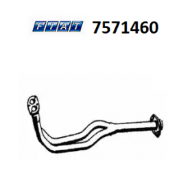 FRONT EXHAUST GAS HOSE FIAT DUNA - FIORINO - ONE ORIGINAL 7571460