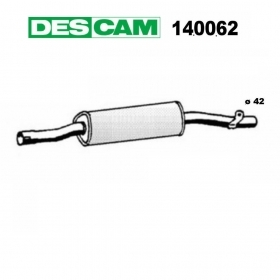 CENTRAL SILENCER ALFA ROMEO ARNA 1.2 - 1.3 TI DESCAM FOR 96585825