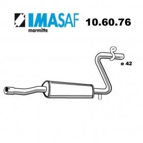 CENTRAL SILENCER ALFA ROMEO 33 - ALFASUD IMASAF FOR 60504299