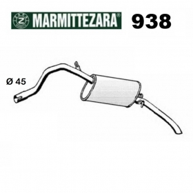 ALFA ROMEO 90 ZARA REAR SILENCER FOR 60741630