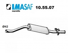 ALFA ROMEO ALFASUD IMASAF REAR SILENCER FOR 60745521