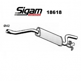 ALFA ROMEO 33 REAR SILENCER - ALFASUD SIGAM FOR 50030030