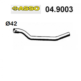 AUDI 80 REAR EXHAUST GAS PIPE - COUPE 'ASSO FOR 811253133