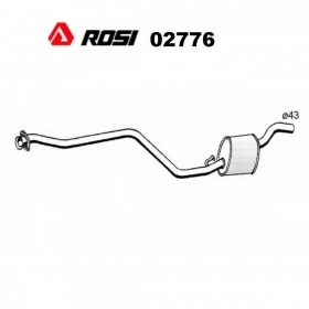 CENTRAL SILENCER AUTOBIANCHI Y10 1.1 - LANCIA Y10 1.1 i.e ROSI FOR 7667084