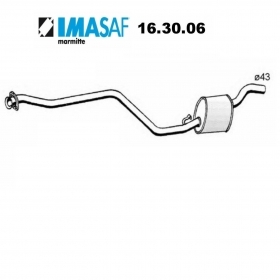 CENTRAL SILENCER AUTOBIANCHI Y10 1.1 - LANCIA Y10 1.1 IMASAF FOR 7667084
