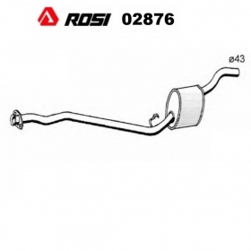 CENTRAL SILENCER AUTOBIANCHI Y10 - LANCIA Y10 1.3 ROSI FOR 7654492