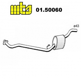 CENTRAL SILENCER AUTOBIANCHI Y10 1.1 - LANCIA Y10 1.1 i.e MTS FOR 7763135