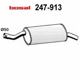 BMW 3 SERIES BOSAL REAR SILENCER FOR 18121176986