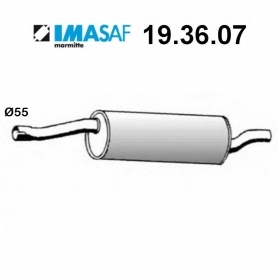 BMW 5 IMASAF REAR SILENCER FOR 18121175747