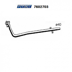 FRONT EXHAUST GAS HOSE FIAT DUNA - FIORINO - ONE ORIGINAL 7602703