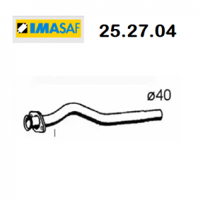 CENTRAL EXHAUST GAS PIPE FIAT UNO 1.4 TURBO I.E IMASAF FOR 7721263