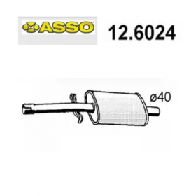CENTRAL SILENCER FIAT RITMO - SEAT RONDA ASSO FOR 5934523