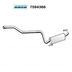 CENTRAL SILENCER FIAT REGATA WEEKEND ORIGINAL 7594366