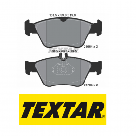 FRONT BRAKE PADS SERIES KIT MERCEDES-BENZ TEXTAR 2166404