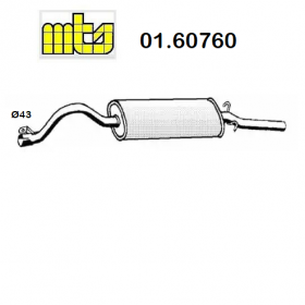 REAR SILENCER FIAT 131 DS MTS