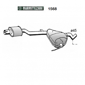 CENTRAL SILENCER FIAT BRAVO - LANCIA DELTA II ZARA FOR 46418204