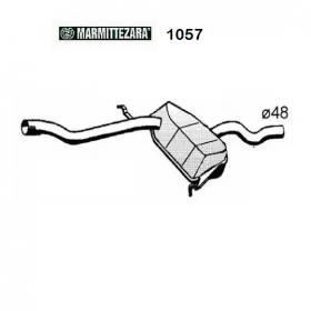 CENTRAL SILENCER FIAT TEMPRA - TIPO - LANCIA DEDRA ZARA FOR 7657903