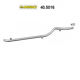 CENTRAL EXHAUST GAS HOSE RENAULT R4 ASSO FOR 7701365697