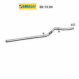 CENTRAL EXHAUST GAS HOSE RENAULT R4 IMASAF FOR 7700757178
