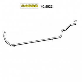 CENTRAL EXHAUST GAS HOSE RENAULT R5 ASSO FOR 7700572304
