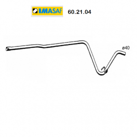 CENTRAL EXHAUST GAS HOSE RENAULT SUPER 5 IMASAF FOR 7700751559