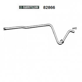 CENTRAL EXHAUST GAS HOSE RENAULT SUPER 5 ZARA FOR 7700751559